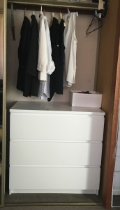 After: hello minimalism! The drawers keep everything tidy and easy to find.